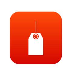 black tag icon digital red vector image