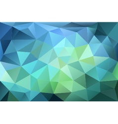 Blue and green low poly background vector
