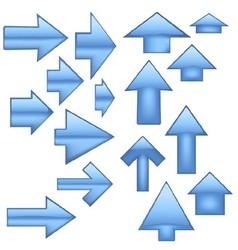 Blue Glass Arrow vector image vector image