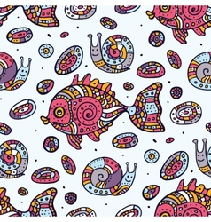 Fishes Seamless pattern vector image