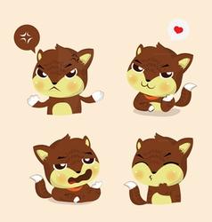 fox four mood vector image vector image