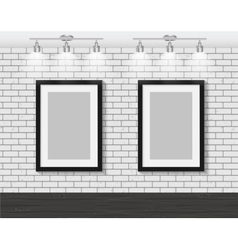 Frame on Brick Wall for Your Text and Images vector image vector image