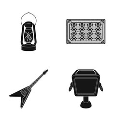 Lamp carpet and other web icon in black style vector