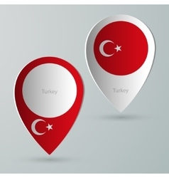 paper of map marker for maps turkey vector image vector image