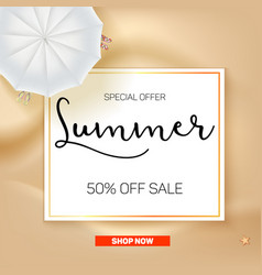 selling ad banner vintage text design summer vector image vector image