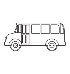 silhouette school bus with wheels vector image vector image