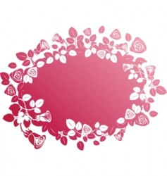 vector rose banner vector image vector image
