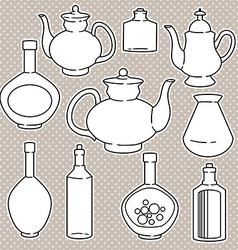 bottlesset vector image vector image