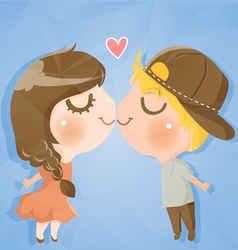 couple cute boy and girl vector image vector image
