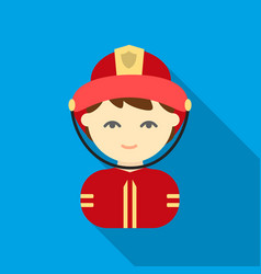 fireman flat icon for web and mobile vector image vector image