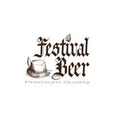 oktoberfest beer festival logo holiday decoration vector image