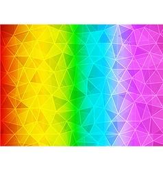 Polygon gradient rainbow background vector