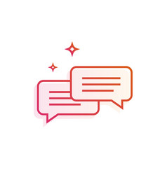 speech bubbles icon gradient line vector image
