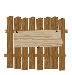 A fence made wood classified ads and vector