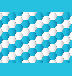 abstract hexagon polygonal background vector image