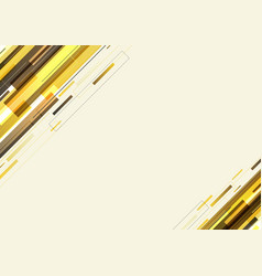 Abstract modern template yellow diagonal stripes vector