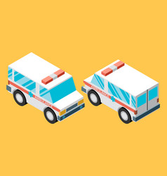 ambulance car isometric view of transport vector image