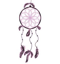 american native indian dreamcatcher vector image