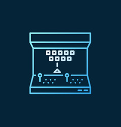 Arcade machine colored icon or sign in thin vector