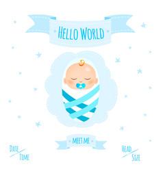 baby boy 1 vector image vector image