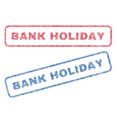 Bank holiday textile stamps vector