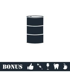 Barrels of oil icon flat vector