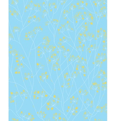 blue yellow floral pattern vector image