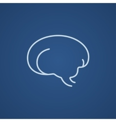 Brain line icon vector