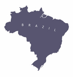brazil silhouette map vector image