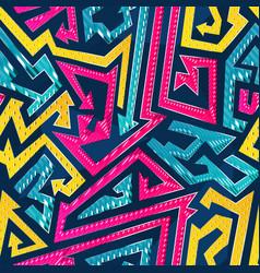 Bright arrow geometric seamless pattern vector