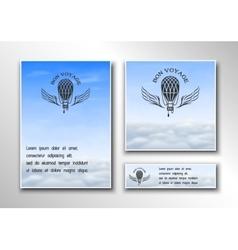 Brochures on theme air travel vector