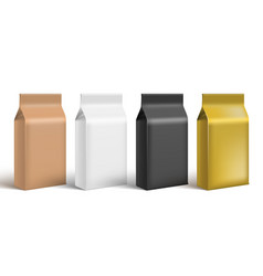 brown white black and gold craft paper bag pack vector image