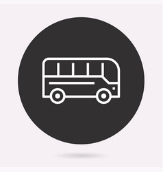 bus - icon isolated simple vector image