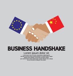 Business Handshake-European Union And China vector image