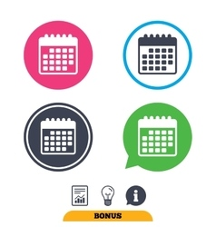 Calendar icon Event reminder symbol vector