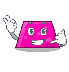 call me trapezoid mascot cartoon style vector image