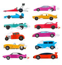 Car retro luxury auto transport racing car vector