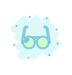 Cartoon sunglasses icon in comic style eyewear vector