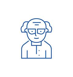 chemistscientist line icon concept chemist vector image