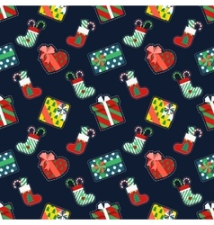 Christmas seamless pattern with gifts vector