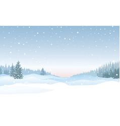 christmas snowfall background snow winter vector image