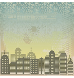 city grunge background vector image