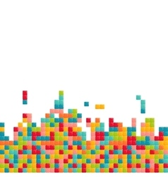 Colorful abstract squares background vector