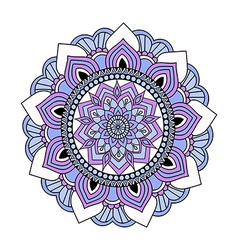 Colorful hand drawn doodle mandala vector image