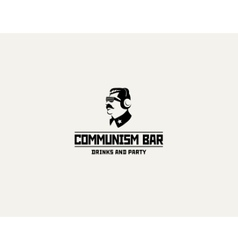 Communism style logo restaurant bar design vector