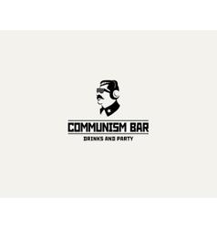 Communism style logo restaurant bar design vector