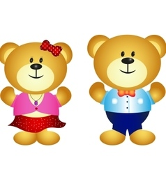 Cute Couple Bear vector image