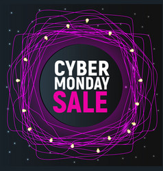 cyber monday sale abstract poster pink promo vector image