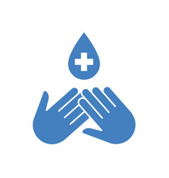 Disinfection icon vector