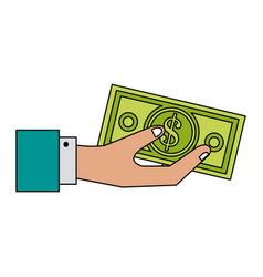 Dollar bill money icon image vector